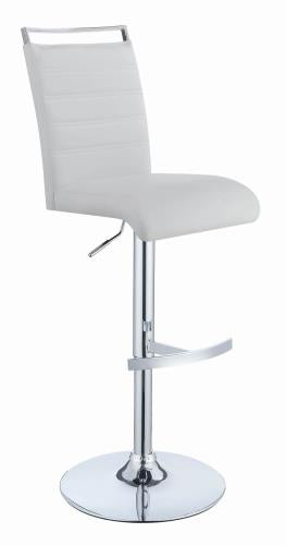 Coaster Furniture 101146 ADJUSTABLE BAR STOOL WHITE & CHROME - Pankour