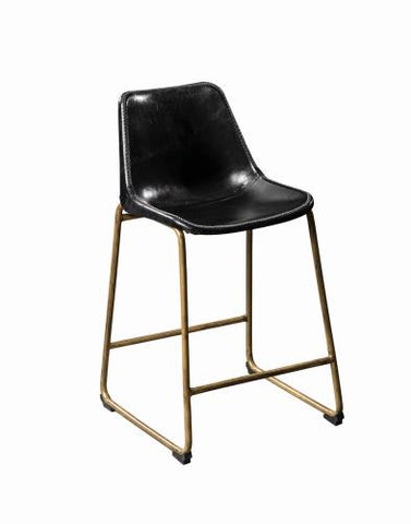 Coaster Furniture 102967 COUNTER HT CHAIR BLACK & ANTIQUE BRASS - Pankour