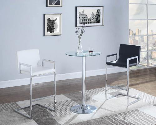 Coaster Furniture 104875 BAR STOOL WHITE & CHROME - Pankour