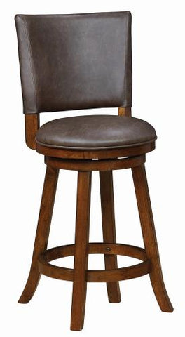 Coaster Furniture 104895 COUNTER HT CHAIR BROWN & CHESTNUT - Pankour