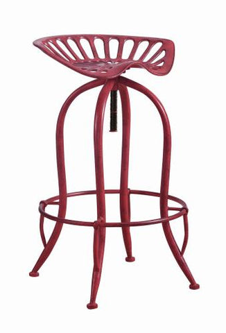 Coaster Furniture 104946 ADJUSTABLE BAR STOOL ANTIQUE RED - Pankour