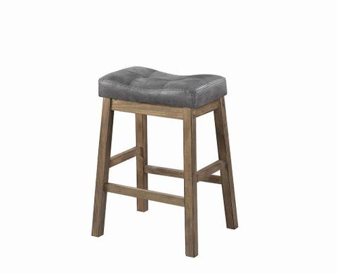 Coaster Furniture 121519 COUNTER HT STOOL TWO TONE BROWN & DRIFTWOOD - Pankour