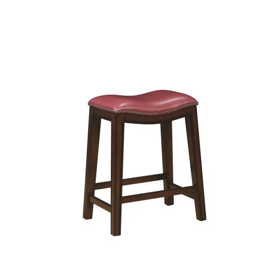 Coaster Furniture 122267 COUNTER HT STOOL CRIMSON & BURNISHED CAPPUCCINO - Pankour