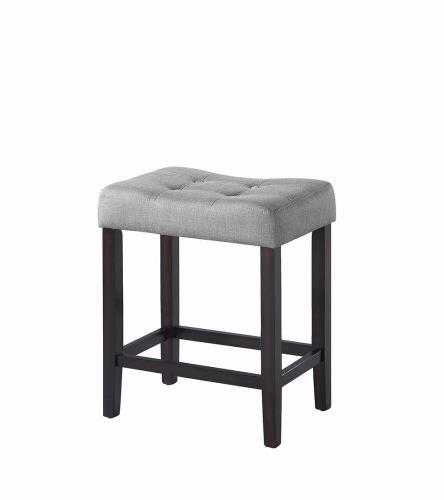 Coaster Furniture 182016 COUNTER HT STOOL GREY & ESPRESSO - Pankour