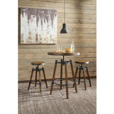 Coaster Furniture 182035 Bar Table WEATHERED BROWN - Pankour