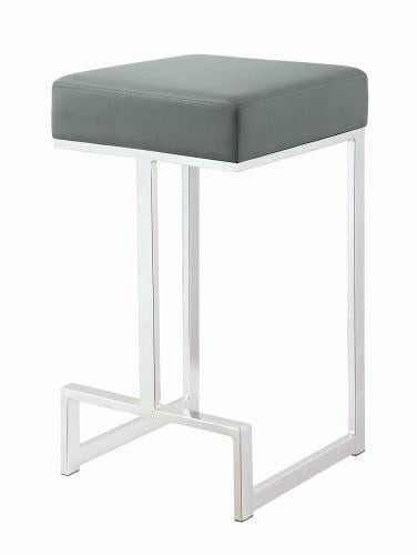 Coaster Furniture BAR STOOLS: METAL FIXED HEIGHT 105252 COUNTER HT STOOL GREY & CHROME - Pankour