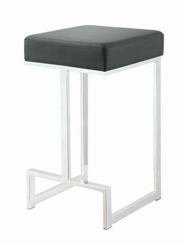 Coaster Furniture BAR STOOLS: METAL FIXED HEIGHT 105253 COUNTER HT STOOL BLACK & CHROME - Pankour