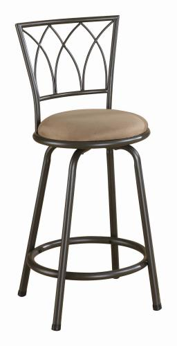 Coaster Furniture BAR STOOLS: METAL SWIVEL 122019 COUNTER HT STOOL BROWN & BLACK - Pankour