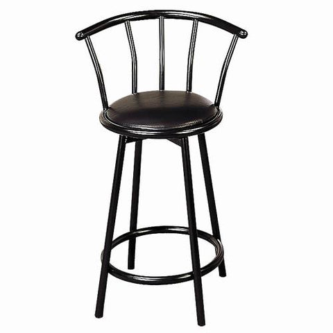 Coaster Furniture BAR STOOLS: METAL SWIVEL 2395 COUNTER HT CHAIR BLACK - Pankour