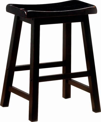 Coaster Furniture BAR STOOLS: WOOD FIXED HEIGHT 180019 COUNTER HT STOOL BLACK - Pankour