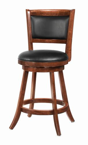 Coaster Furniture BAR STOOLS: WOOD SWIVEL 101919 COUNTER HT STOOL CHESTNUT - Pankour