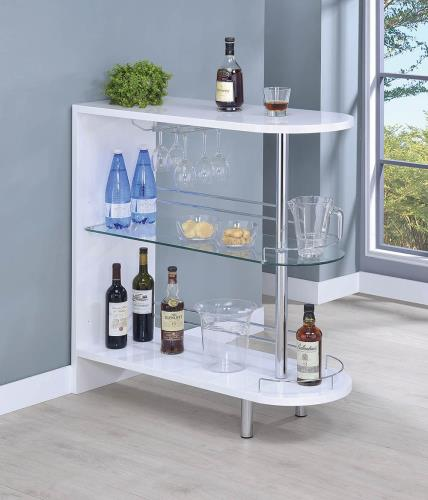 Coaster Furniture BAR UNITS: CONTEMPORARY 101064 BAR TABLE WHITE - Pankour