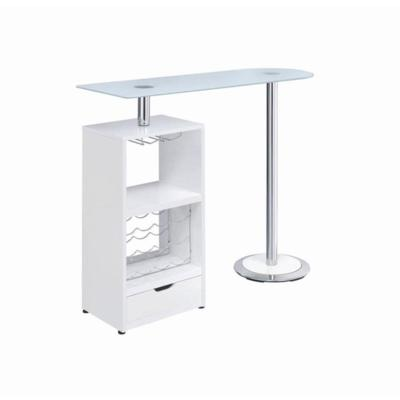 Coaster Furniture BAR UNITS: CONTEMPORARY Table 120452 Bar Table Chrome, White - Pankour