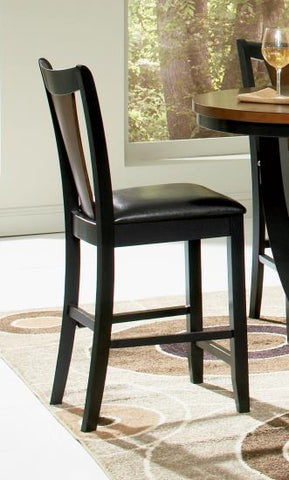 Coaster Furniture BOYER COLLECTION 102099 COUNTER HT STOOL AMBER/ BLACK - Pankour