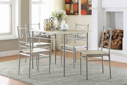 Coaster Furniture DINING: PACKAGED SETS: METAL 100035 DINING SET - Pankour