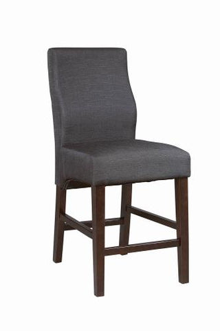 Coaster Furniture EVERYDAY DINING: STOOLS 102854 COUNTER HT STOOL BLACK & DARK CAPPUCCINO - Pankour