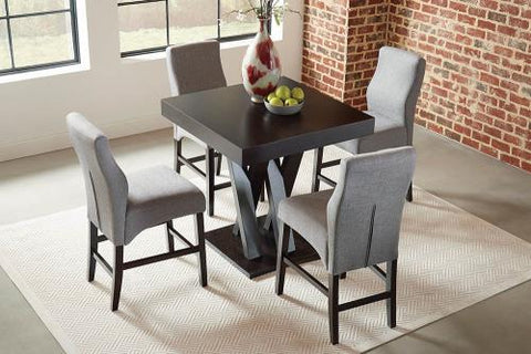 Coaster Furniture EVERYDAY DINING: STOOLS 102855 COUNTER HT STOOL GREY & DARK CAPPUCCINO - Pankour