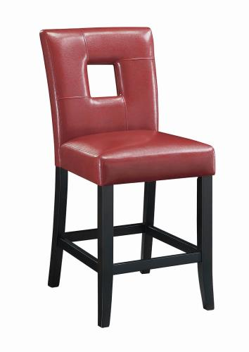 Coaster Furniture EVERYDAY DINING: STOOLS 103619RED COUNTER HT STOOL RED & BLACK - Pankour