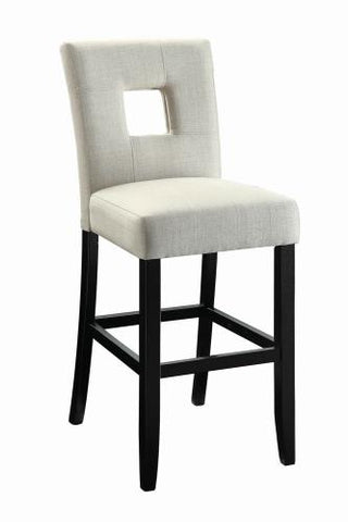 Coaster Furniture EVERYDAY DINING: STOOLS 106672 COUNTER HT CHAIR BEIGE & BLACK - Pankour