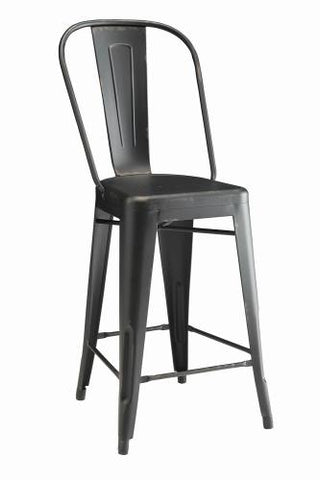 Coaster Furniture LAHNER COLLECTION 104882 COUNTER HT CHAIR BLACK - Pankour
