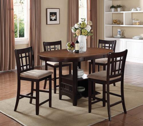 Coaster Furniture LAVON COLLECTION 105279 COUNTER HT CHAIR BROWN & ESPRESSO - Pankour