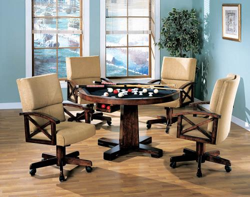 Coaster Furniture MARIETTA GAME TABLE 100172 Dining Chair - Pankour