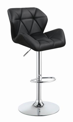 Coaster Furniture REC ROOM/BAR STOOLS: HEIGHT ADJUSTABLE 100425 ADJUSTABLE BAR STOOL BLACK & SILVER - Pankour