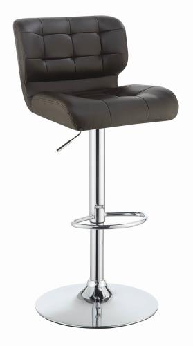 Coaster Furniture REC ROOM/BAR STOOLS: HEIGHT ADJUSTABLE 100544 ADJUSTABLE BAR STOOL BROWN & CHROME - Pankour