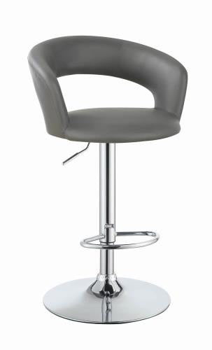 Coaster Furniture REC ROOM/BAR STOOLS: HEIGHT ADJUSTABLE 120397 ADJUSTABLE BAR STOOL GREY & CHROME - Pankour