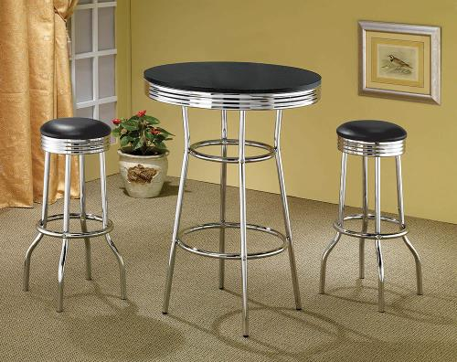 Coaster Furniture REC ROOM/ BAR TABLES: CHROME/GLASS 2408 29 Bar Stool - Pankour