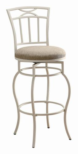 Coaster Furniture BAR STOOLS: METAL SWIVEL 122050 29 BAR STOOL CREAM & WHITE - Pankour