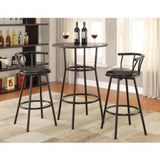 Coaster Furniture REC ROOM/ BAR TABLES: RUSTIC/INDUSTRIAL 2383 Bar Table BLACK - Pankour