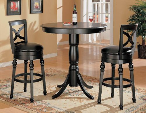 Coaster Furniture REC ROOM/ BAR TABLES: WOOD 100279 BAR STOOL BLACK - Pankour