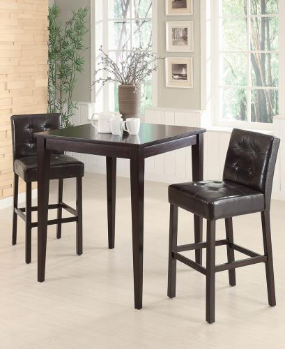 Coaster Furniture REC ROOM/ BAR TABLES: WOOD 102576 BAR HEIGHT STOOL DARK BROWN & CAPPUCCINO - Pankour
