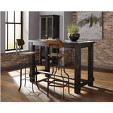 Coaster Furniture Rectangle 182019 Bar Table WIRE BRUSHED BLACK - Pankour