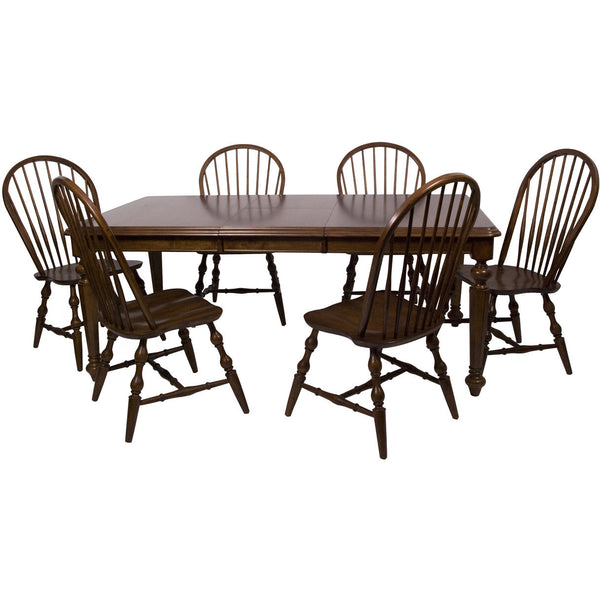 Sunset Trading 7pc Andrews Extension DLU-ADW4276-C30-CT7PC Dining Set - Pankour