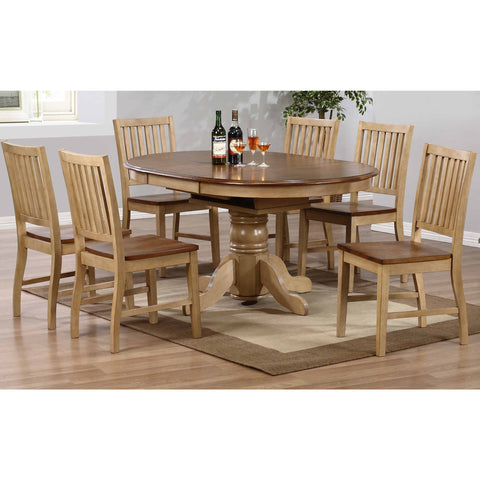 Sunset Trading 7pc Brookside Pedestal DLU-BR4260-C60-PW7PC Dining Set - Pankour