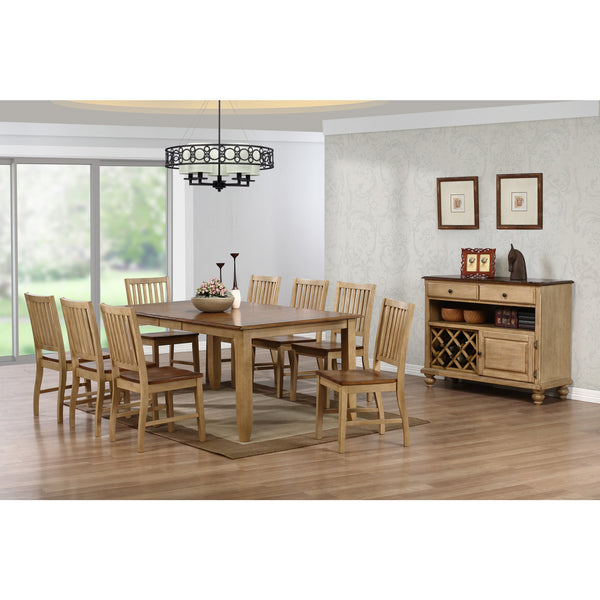 Sunset Trading 9pc DLU-BR4272-C60-PW9PC Brookhaven Rectangular Set - Pankour