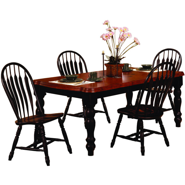 Sunset Trading 5 Piece Extension DLU-SLT4272-4130-AB5PC Dining Set - Pankour
