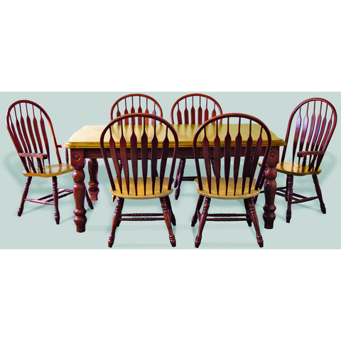 Sunset Trading 7pc DLU-SLT4272-4130A-NLO7PC Extension Dining Set - Pankour