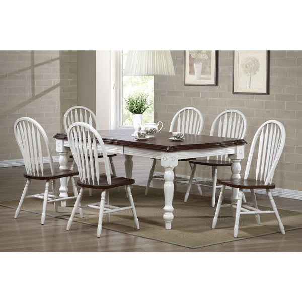 Sunset Trading 7pc DLU-SLT4272-820-AW7PC Extension Dining Set - Pankour