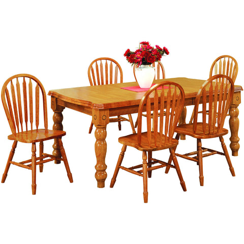 Sunset Trading 7pc DLU-SLT4272-820-LO7PC Extension Dining Set - Pankour