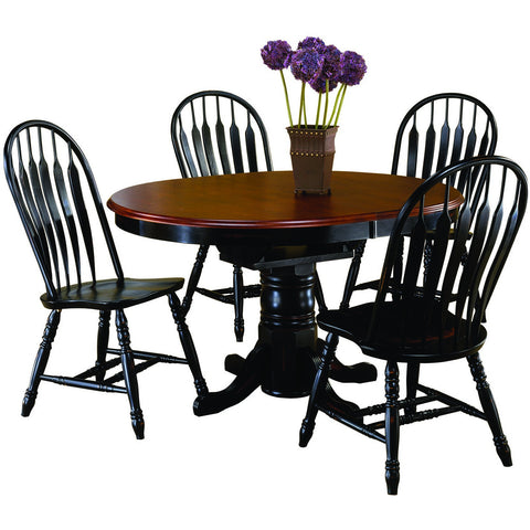 Sunset Trading 5 Piece Pedestal DLU-TBX4266-4130-AB5PC Dining Set - Pankour