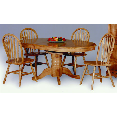 Sunset Trading 5pc DLU-TBX4266-820-LO5PC Pedestal Dining Set - Pankour