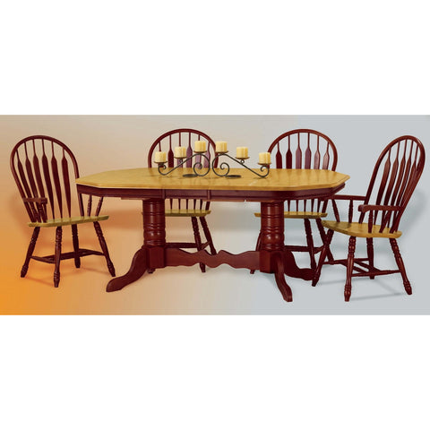 Sunset Trading 5pc Pedestal Trestle Butterfly DLU-TCP4284-4130A-NLO5PC - Pankour