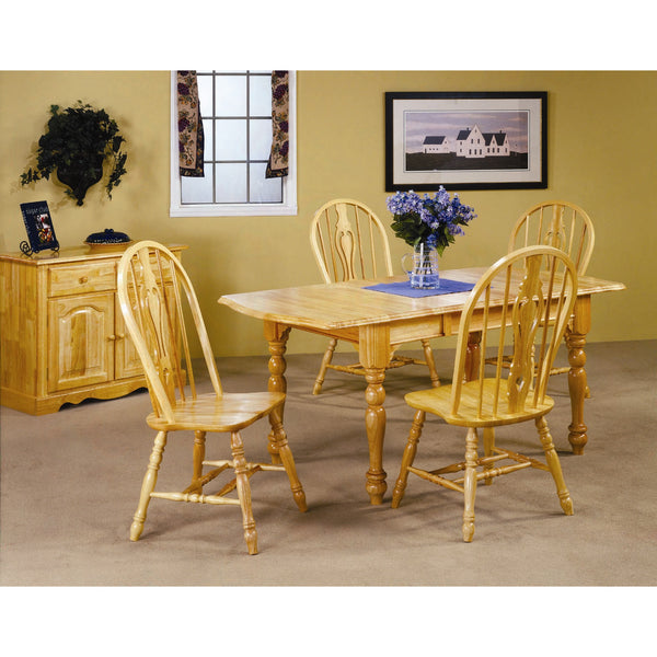 Sunset Trading 5 Piece Drop Leaf Extension DLU-TDX3472-124S-LO5PC Set - Pankour