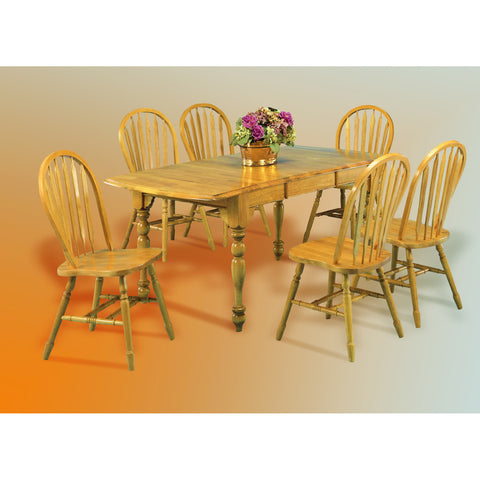 Sunset Trading 7pc DropLeaf Extension DLU-TDX3472-820-LO7PC Dining Set - Pankour