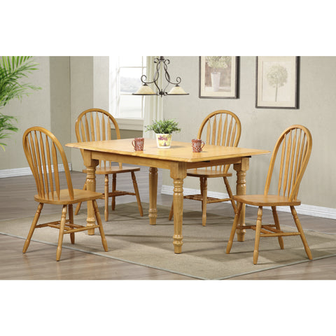 Sunset Trading 5 Piece Butterfly DLU-TLB3660-820-LO5PC Dining Set - Pankour