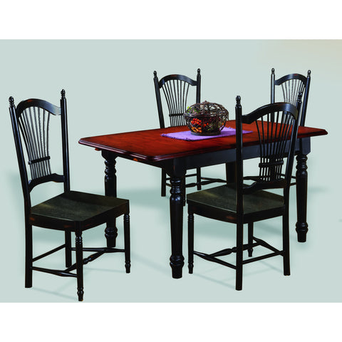 Sunset Trading 5 Piece Butterfly DLU-TLB3660-C07-AB5PC Dining Set - Pankour
