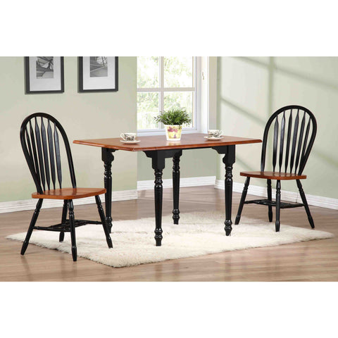 Sunset Trading 3pc Drop Leaf DLU-TLD3448-820-BCH3PC Dining Set - Pankour